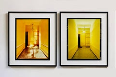 Yellow Corridor Day and Night, Milan - Interior Architecture Color Photography