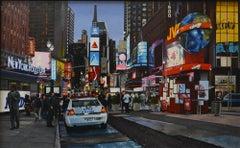 """N.Y.P.D."" City Landscape (Photorealism, New York City, Times Square)"
