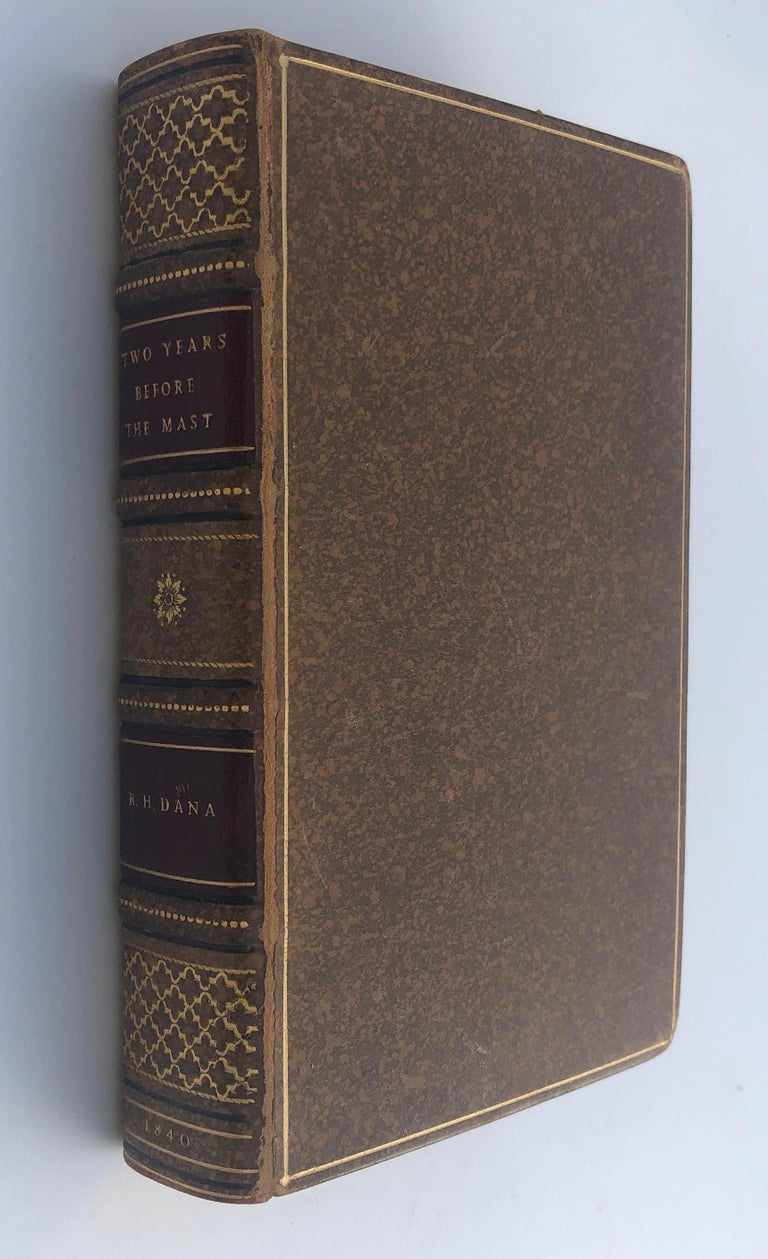 Richard Henry Dana - Two Years Behind the Mast. A Personal Narrative of Life at Sea. First Edition, Harper & Brothers N.Y. 1840.  A very important classic of American literature. The book records Dana's visit aboard the brig The Pilgrim to