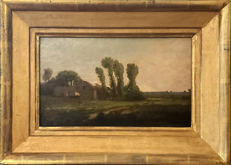 "New England Landscape Oil Painting signed by Richard Henry Fuller  American 1822-1871  This New England landscape painting is oil paint on wood board.  This Richard Henry Fuller painting is signed in the lower left corner ""RH Fuller"".   This"