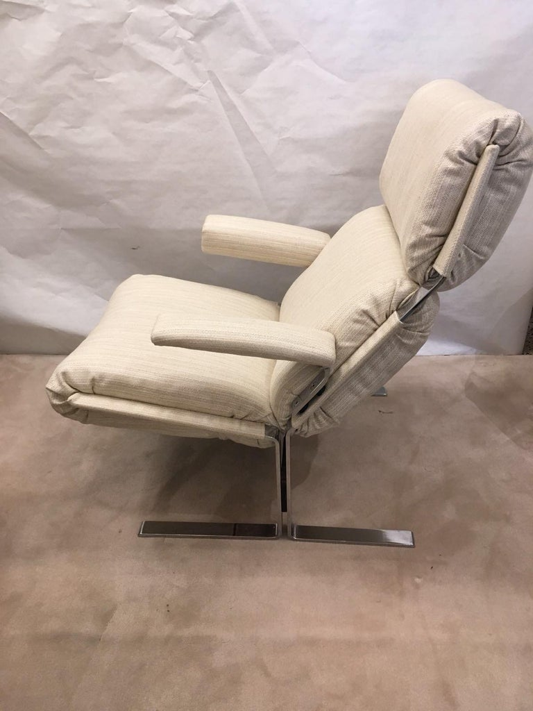 Mid-Century Modern Richard Hersberger for the PACE Collection Modern Lounge Chair with Ottoman For Sale