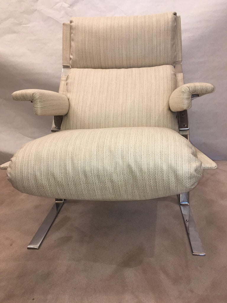 American Richard Hersberger for the PACE Collection Modern Lounge Chair with Ottoman For Sale