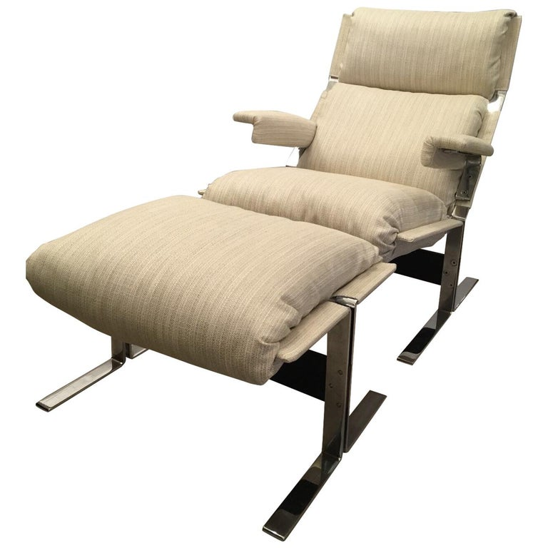 Richard Hersberger for the PACE Collection Modern Lounge Chair with Ottoman For Sale
