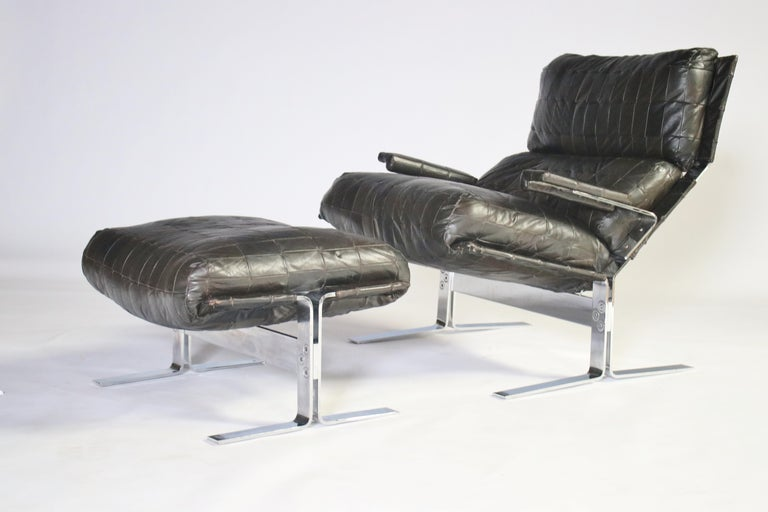 Richard Hersberger For Saporiti Lounge Chair and Ottoman For Sale 3
