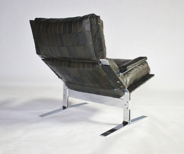 Late 20th Century Richard Hersberger For Saporiti Lounge Chair and Ottoman For Sale