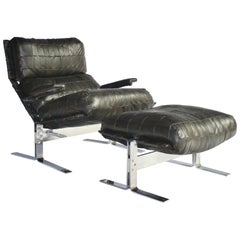 Richard Hersberger For Saporiti Lounge Chair and Ottoman