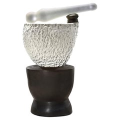 Richard Hirsch Ceramic Mortar and Glass Pestle Sculpture #5, 2020