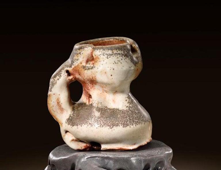 Modern Richard Hirsch Ceramic Scholar Rock Cup Sculpture #16, 2016 For Sale