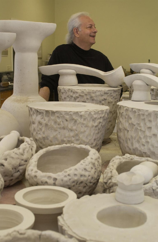 Contemporary Richard Hirsch Ceramic Scholar Rock Cup Sculpture #16, 2016 For Sale