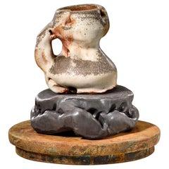 Richard Hirsch Ceramic Scholar Rock Cup Sculpture #16, 2016