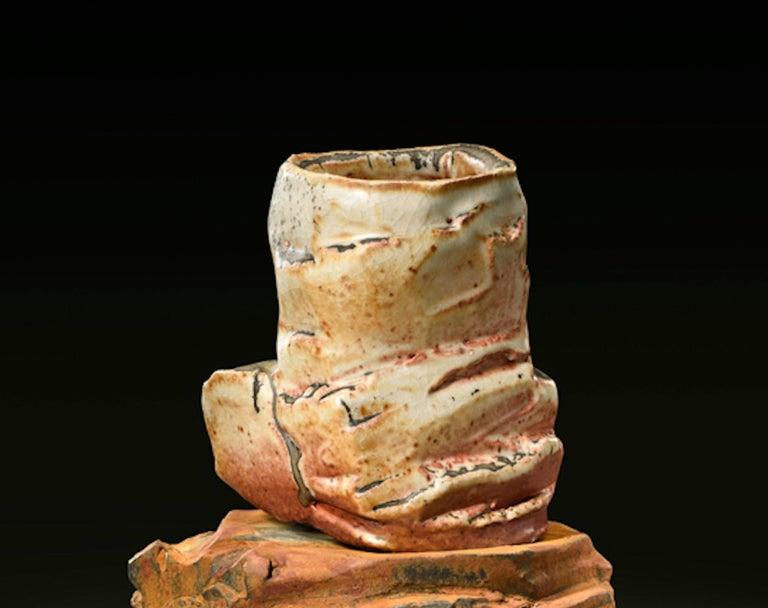 Modern Richard Hirsch Ceramic Scholar Rock Cup Sculpture #19, 2016 For Sale