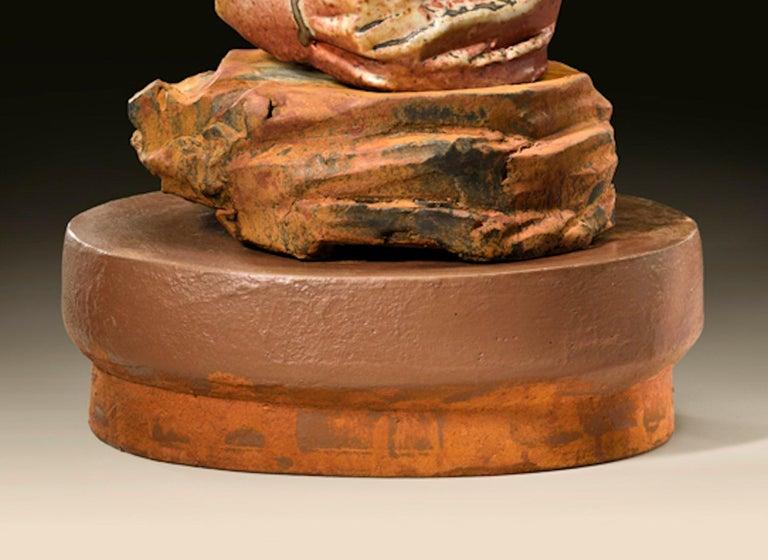 Glazed Richard Hirsch Ceramic Scholar Rock Cup Sculpture #19, 2016 For Sale