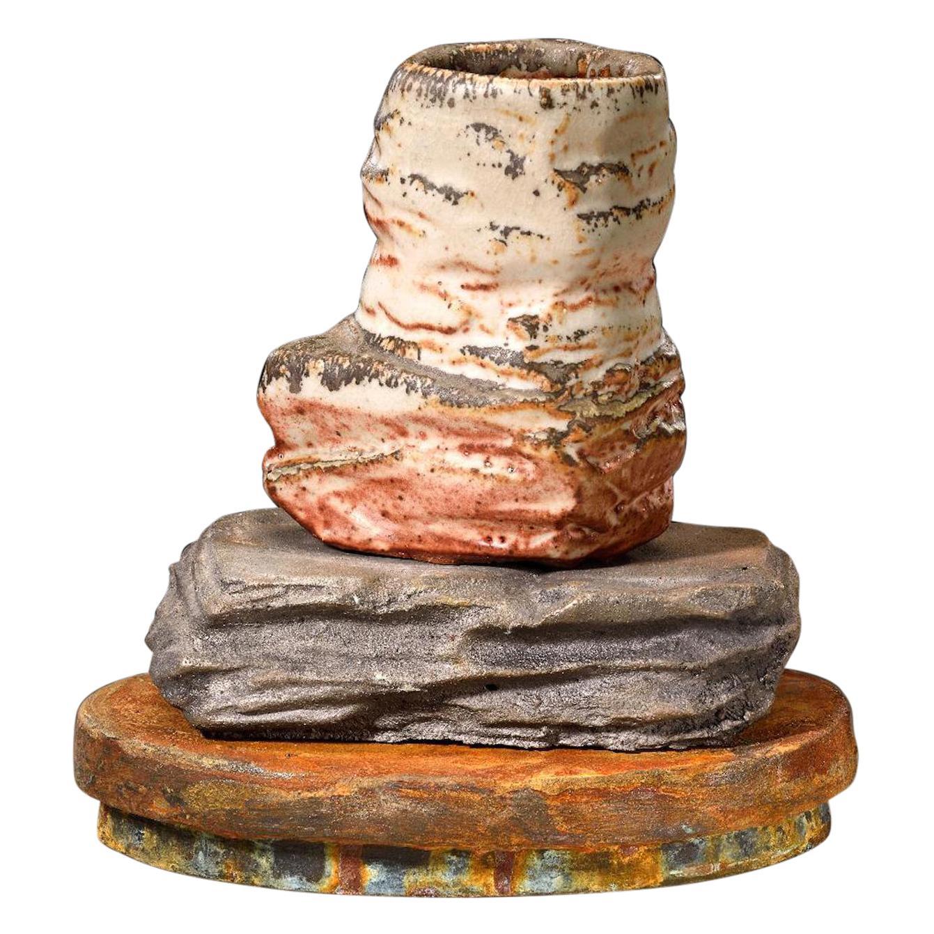 Richard Hirsch Ceramic Scholar Rock Cup Sculpture #20, 2014