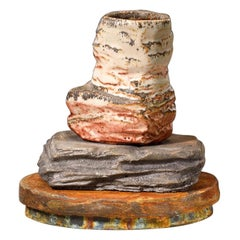 Richard Hirsch Ceramic Scholar Rock Cup Sculpture #20, 2014