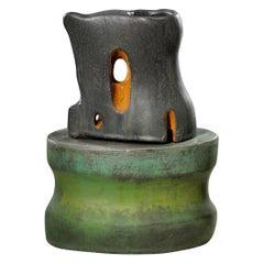 Richard Hirsch Ceramic Scholar Rock Cup Sculpture, 2011