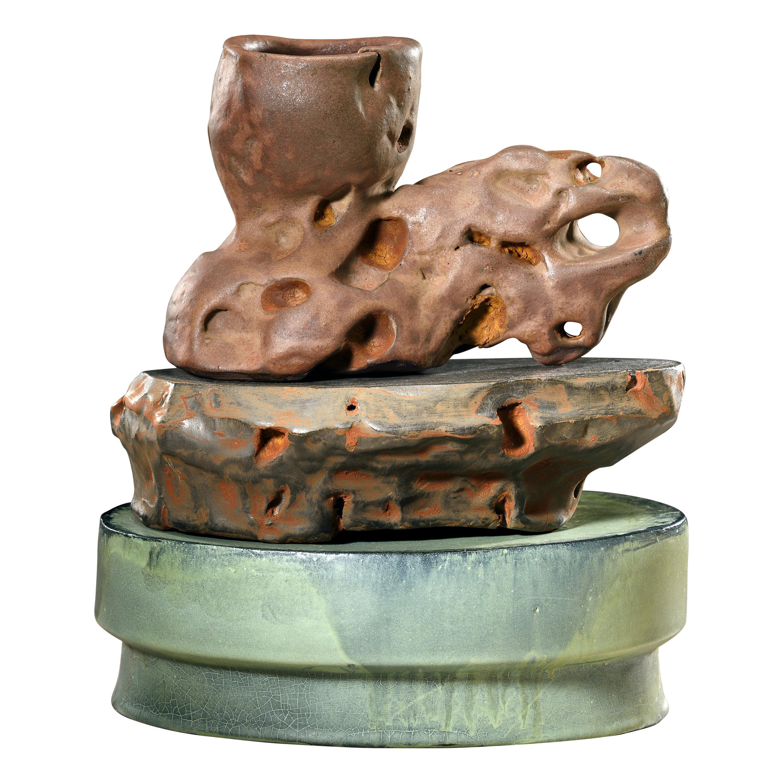 Richard Hirsch Ceramic Scholar Rock Cup Sculpture, 2018