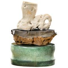 Richard Hirsch Ceramic Scholar Rock Cup Sculpture #32, circa 2017 - 2018
