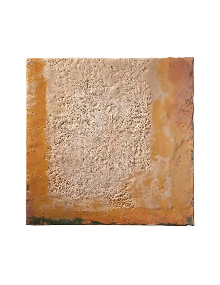 Contemporary American ceramic artist Richard Hirsch's encaustic Paintings of Nothing is made of ceramic raw materials, dry pigment and wax. This piece is part of his ongoing Painting of Nothing Series. Hirsch applies the waxy mix with a brush onto