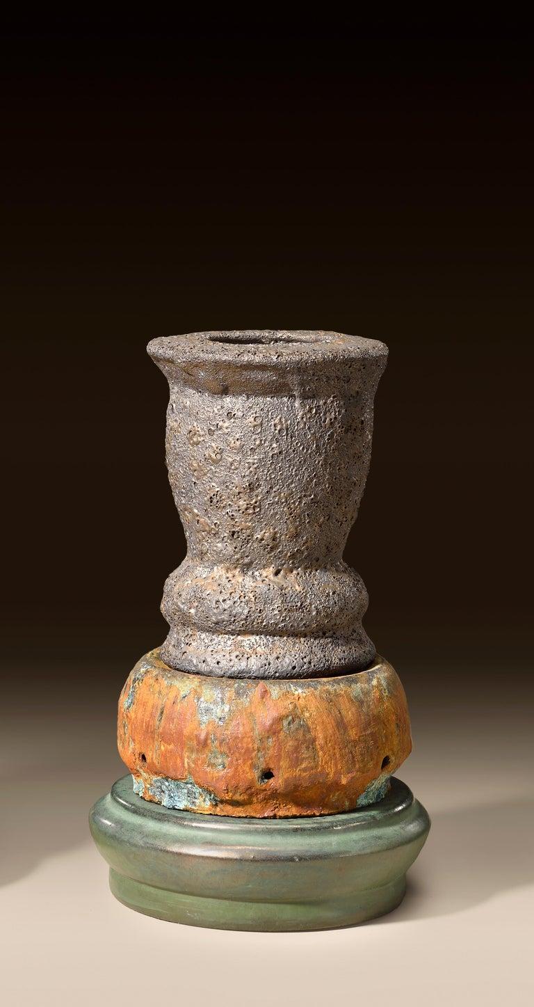 Richard Hirsch Glazed Ceramic Crucible Sculpture Group #1, 2016 For Sale 4