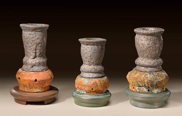 Richard Hirsch Glazed Ceramic Crucible Sculpture Group #1, 2016 For Sale 5