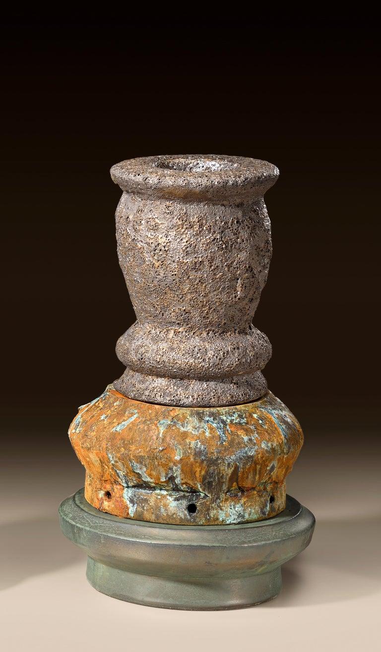 Richard Hirsch Glazed Ceramic Crucible Sculpture Group #1, 2016 For Sale 6