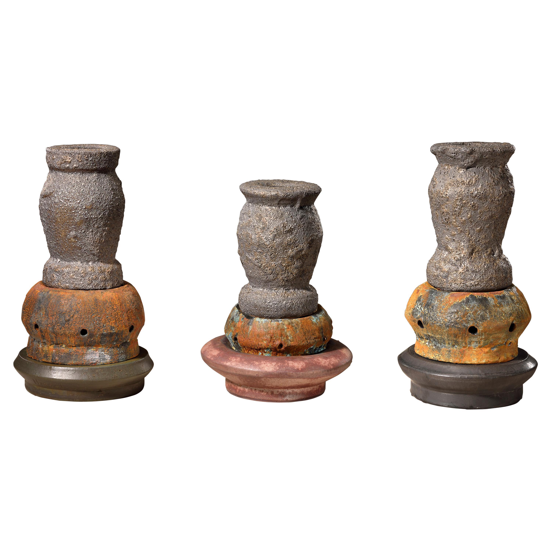 Richard Hirsch Glazed Ceramic Crucible Sculpture Group #3, 2016