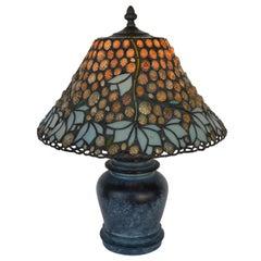 Richard Hoosin Shell and Glass Table Lamp