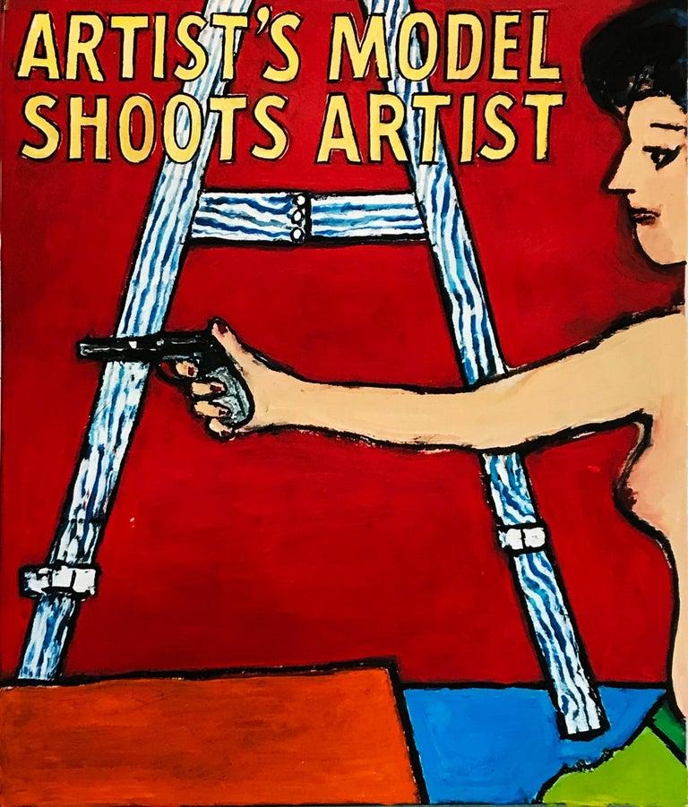 An original acrylic on canvas by American artist Richard Huntington entitled