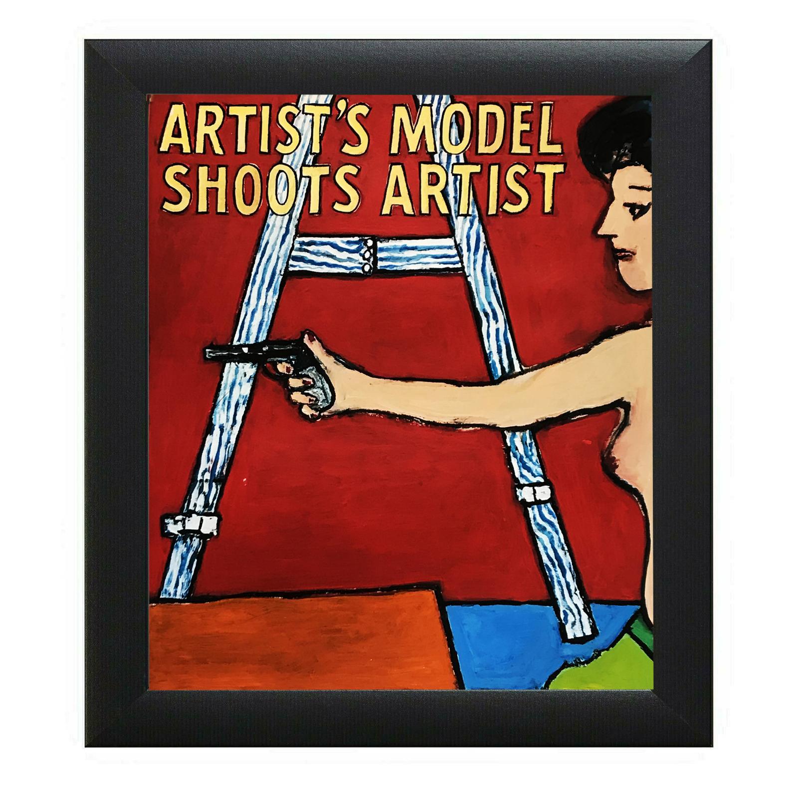 American Contemporary Painting Artist Model Easel Gun Richard Huntington Mexico
