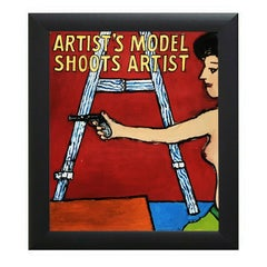 American Contemporary Painting Artist Model Easel Gun Richard Huntington Mexico
