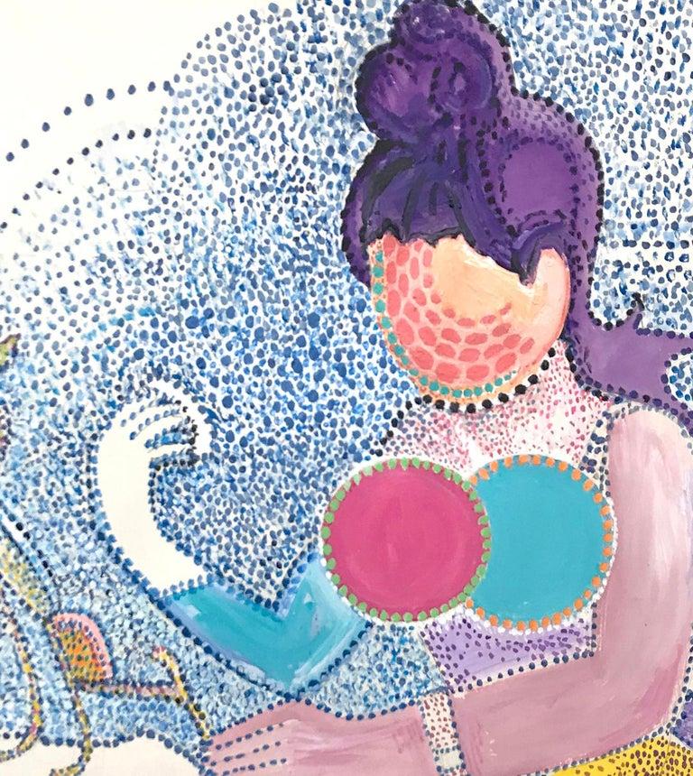 American Contemporary Painting Seurat Pointillist Richard Huntington Mexico For Sale 2