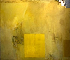 Richard Huntington 1960s Minimalist Yellow Abstract Large Mid Century Modern NYC