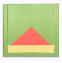 Richard Huntington 1970s Geometric Abstraction Large Mid Century Modern Triangle