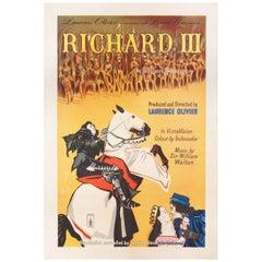 Richard III 1955 British One Sheet Film Poster