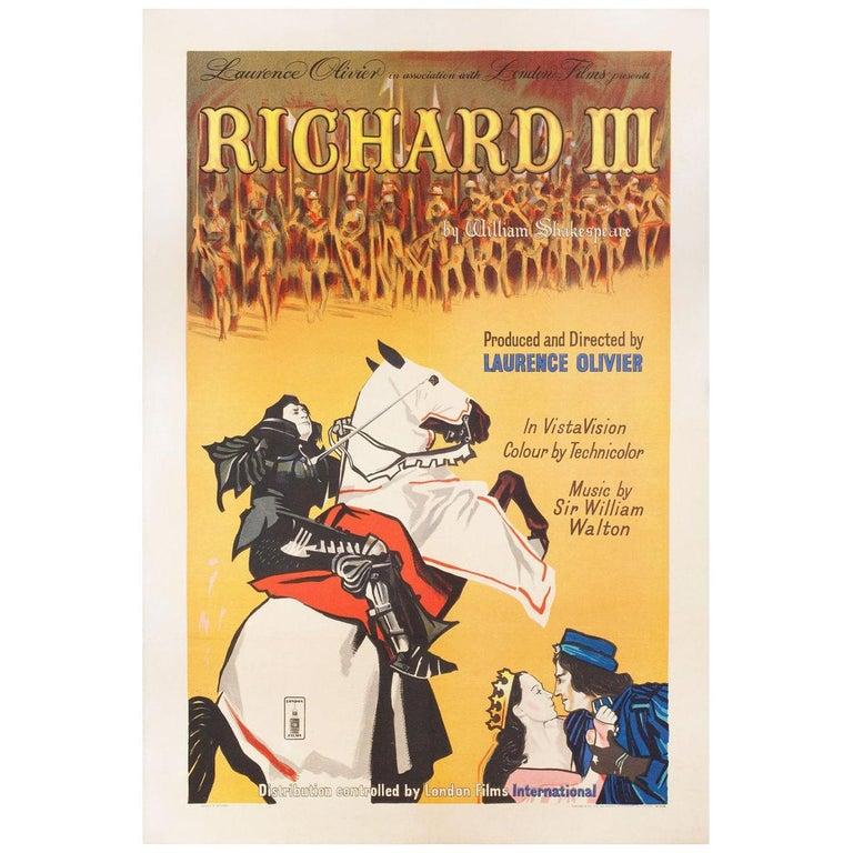 Richard III 1955 British One Sheet Film Poster For Sale