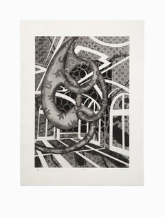 """""""Holiday"""", Abstract Drypoint Etching and Aquatint, Numbered and Signed"""