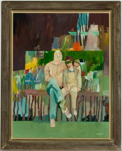 Richard J.S. Young - Signed c. 1980 Contemporary British Oil, Holiday Romance