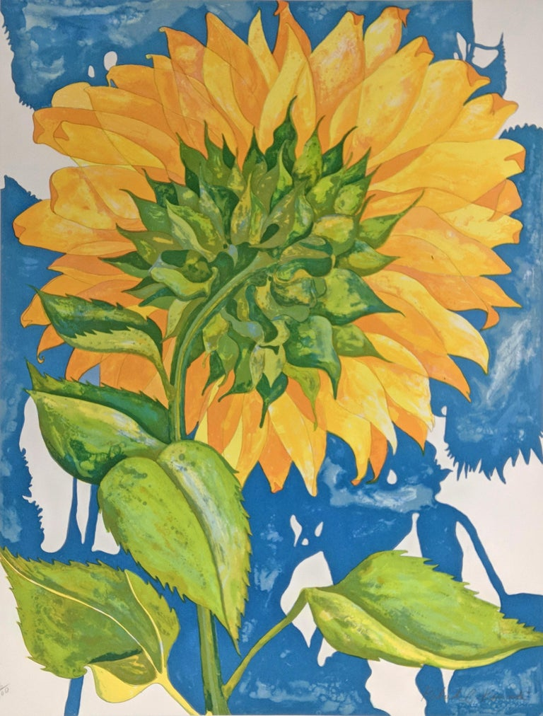 Richard Karwoski Still-Life Print - SUNFLOWER