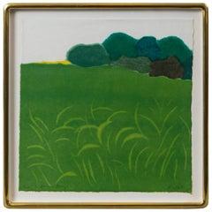 Richard Kemble, A Summer Breeze, Editioned Woodblock Print, 1977