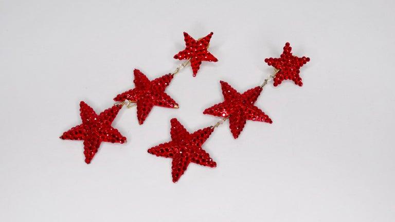 Richard Kerr Star Dangle Earrings 1