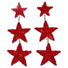 Richard Kerr Star Dangle Earrings