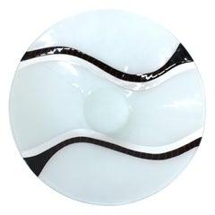 Richard Knopf Postmodern Glass Charger Plate