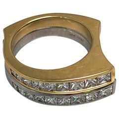 Richard Krementz 18 Karat and Platinum Diamond Ring Set