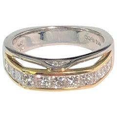 Richard Krementz Platinum 18 Karat Diamond Ring
