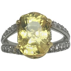 Richard Krementz Yellow Sapphire Diamond Ring