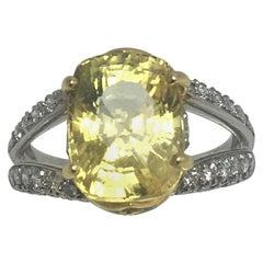 Richard Krementz Yellow Sapphire Diamond Ring