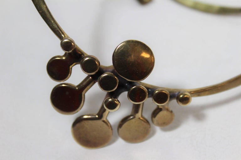 Richard Lawless Bronze Brutalist Necklace In Excellent Condition For Sale In Hamilton, Ontario