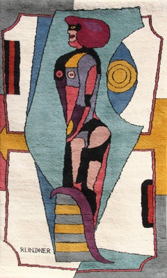 Untitled (Standing Woman), Large Rug Tapestry