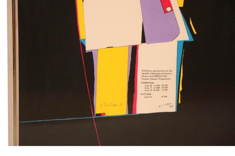 German Richard Lindner Pop Art Silkscreen Alliance in Art, 1968 For Sale