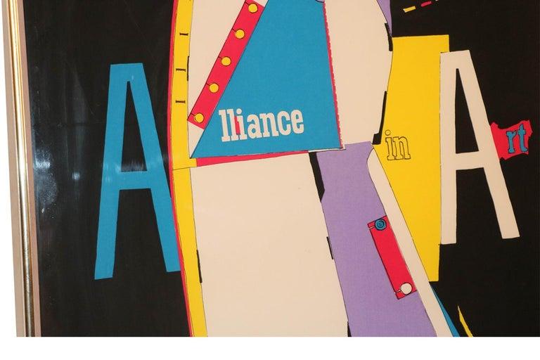 Richard Lindner Pop Art Silkscreen Alliance in Art, 1968 In Good Condition For Sale In Baltimore, MD